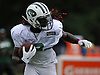 Lucky Whitehead #8 races downfield during New York Jets Training Camp at the Atlantic Health Jets Training Center in Florham Park, NJ on Tuesday, Aug. 8, 2017.