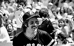 The Eagles 1978 Glenn Frey at Eagles vs Rolling Stone Mag softball game<br /> &copy; Chris Walter