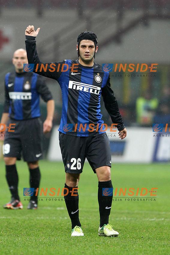 """Cristian Chivu Inter..Milano 12/01/2013 Stadio """"S.Siro""""..Football Calcio Serie A 2012/13..Inter v Pescara..Foto Insidefoto Paolo Nucci.."""