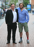 ***NO FEE PIC ***<br /> 12/06/2014<br /> (L to R) Gary Lydon (Calvary, The Guard, War Horse) &amp;  Peter Coonan (Fran from Love/Hate, What Richard Did, Quirke)  at the Gaiety Theatre, South King Street, Dublin to mark the annoucnement that Brendan Behan's Borstal Boy returns to Dublin's Gaiety Theatre from 11 September for a strictly limited engagement. The critically acclaimed and commemorative play marks the 50th anniversary of the death of Brendan Behan (20th March 1964). Tickets go on sale Friday 20 June.<br /> Photo:  Gareth Chaney Collins