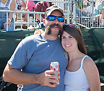 Matt and Jessica Dent, from Gridley, CA at the Air Races at the Reno-Stead Airfield on Sunday, Sept. 20, 2015.