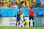 Yasuyuki Konno (JPN), <br /> JUNE 24, 2014 - Football /Soccer : <br /> 2014 FIFA World Cup Brazil <br /> Group Match -Group C- <br /> between Japan 1-4 Colombia <br /> at Arena Pantanal, Cuiaba, Brazil. <br /> (Photo by YUTAKA/AFLO SPORT)