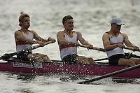 Poznan, POLAND.  2006, FISA, Rowing, World Cup, GER M4-, Bow Gregor HAUFFE, Toni  SEIFERT, Phillipp STUEER, Bernd HIEDICKER, move  away from  the  start, on the Malta  Lake. Regatta Course, Poznan, Thurs. 15.05.2006. © Peter Spurrier   .[Mandatory Credit Peter Spurrier/ Intersport Images] Rowing Course:Malta Rowing Course, Poznan, POLAND