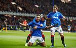 24.11.2018 Rangers v Livingston: Alfredo Morelos celebrates his goal