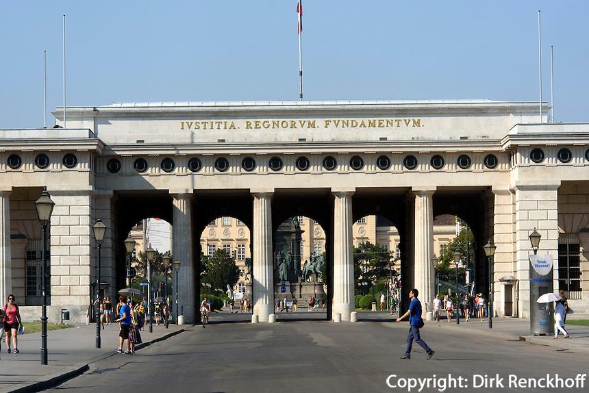 Burgtor,  Wien, &Ouml;sterreich, UNESCO-Weltkulturerbe<br /> Castle gate, Vienna, Austria, world heritage