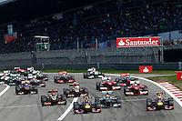 NÜERBURG, ALEMANHA, 07.07.2013 - F1 - GP DA ALEMANHA - Pilotos durante o GP da Alemanha em Nüerburg neste domingo, 07. (PIXATHLON / BRAZIL PHOTO PRESS).