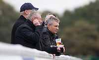Supporters enjoy the match during the Greene King IPA Championship match between London Scottish Football Club and Jersey at Richmond Athletic Ground, Richmond, United Kingdom on 7 November 2015. Photo by Andy Rowland.