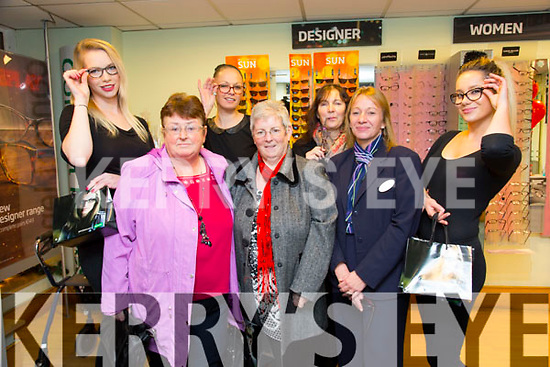Victoria Tynan, Rose Joy, Helen O'Connor, Norma O'Donoghue, Geraldine O'Reilly, Bridget Slattery, Gosia Bugaj enjoying the Festive Fun at Specsavers Tralee on Thursday