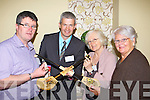 Stephen O'Sullivan Molly Gallivan's Cottage, Kenmare, Daithi O'Regan Handcraft Hurley's Duagh, Claire Nagle Blasket Island School of Art and Eileen McGillicuddy at the Kerry tourism business show in the Malton Hotel Killarney on Thursday..