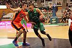 League ACB-ENDESA 2017/2018. Game: 30.<br /> Divina Seguros Joventut vs Valencia Baket Club: 77-75.<br /> Alberto Abalde vs Demitrius Conger.