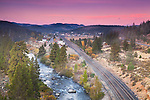 Dawn over Truckee and Donner Pass