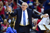 Washington, DC - May 27, 2018: Washington Mystics head coach Mike Thibault is not happy on the sidelines after a missed call during game between the Mystics and Lynx at the Capital One Arena in Washington, DC. (Photo by Phil Peters/Media Images International)