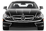 Straight front view of a photo of a 2013 Mercedes CLS Class AMG sedan