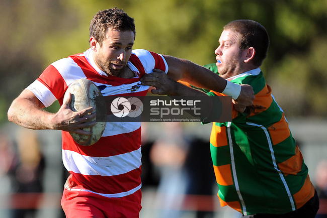 Division 2 Club Rugby Waimea Old Boys v Tapawera. Jubilee Park, Richmond, Nelson, New Zealand. Saturday 28 June 2014. Photo: Chris Symes/www.shuttersport.co.nz