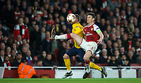 Antoine Griezmann of Atletico Madrid takes advantage of Laurent Koscielny of Arsenal and goes through to score a goal during the UEFA Europa League Semi Final 1st leg match between Arsenal and Atletico Madrid at the Emirates Stadium, London, England on 26 April 2018. Photo by Andy Aleksiejczuk / PRiME Media Images
