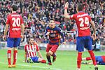 30.01.2016 Camp Nou, Barcelona, Spain. La Liga day 22 match between FC Barcelona and Atletico de Madrid. Leo Messi celebration after score