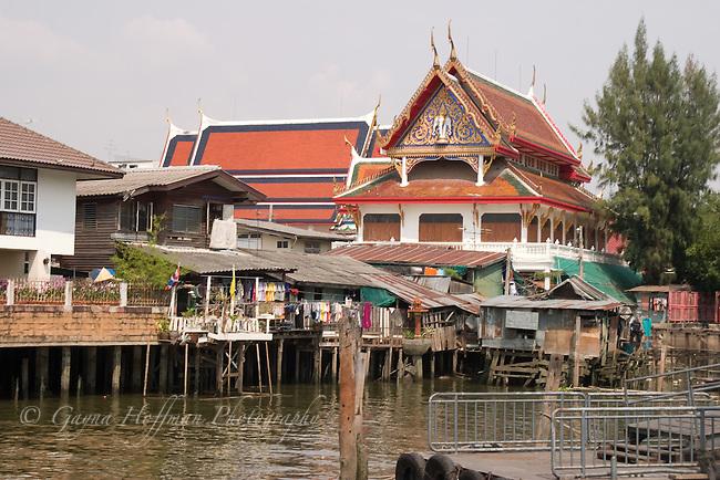 Buildings on the Praya River. Bangkok