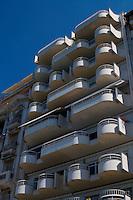 Modern building on the waterfront. Thessaloniki, Macedonia, Greece