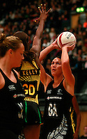 17.1.2014 New Zealand's Jodi Brown puts up a shot against Jamaica during their netball test match in London, England. Mandatory Photo Credit (Pic: Tim Hales). ©Michael Bradley Photography.
