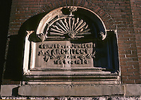 St. Lous: Anheuser-Busch. Plaque commemorating Architect Edmund Von Jungenfeld.  Photo '78.