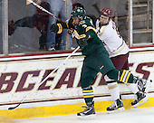 Chris McCarthy (UVM - 3), Patch Alber (BC - 3) - The Boston College Eagles defeated the University of Vermont Catamounts 4-1 on Friday, February 1, 2013, at Kelley Rink in Conte Forum in Chestnut Hill, Massachusetts.