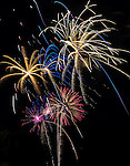 Fourth of July fireworks in Monett, Mo., on Saturday, July 4, 2015.  <br /> Photo by Cathleen Allison