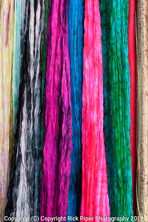 Vietnamese crushed silk for sale at a shop in Nguyen Thai Hoc St, Hoi An, Viet Nam