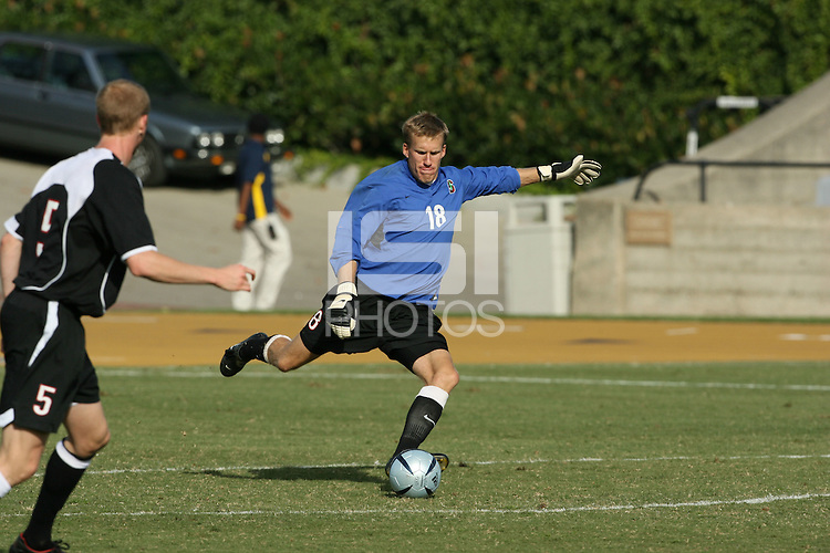 13 November 2005: Andrew Kartunen during Stanford's 4-1 loss to California at Edwards Stadium in Berkeley, CA.