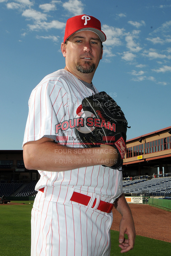 Feb 20, 2009; Clearwater, FL, USA; The Philadelphia Phillies pitcher Scott Eyre (47) during photoday at Bright House Field. Mandatory Credit: Tomasso De Rosa/ Four Seam Images