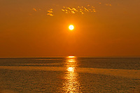 Sunrise on the St. Lawrence River, L'Isle-aux-Coudres, Quebec, Canada