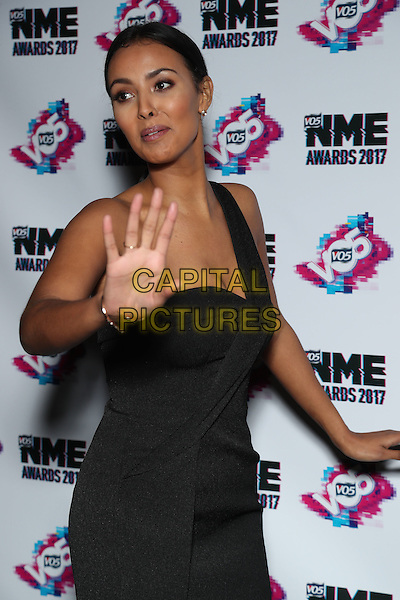 Maya Jama<br /> The VO5 NME Awards 2017 at the O2 Academy, Brixton, London on February 15th 2017<br /> CAP/GOL<br /> &copy;GOL/Capital Pictures