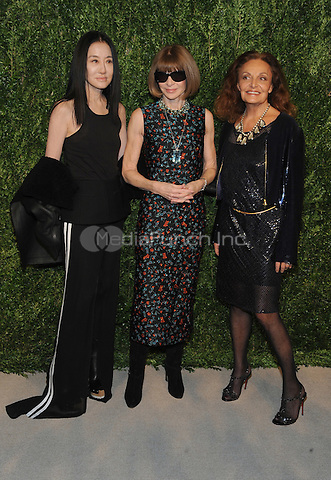 NEW YORK, NY - NOVEMBER 07:  Vera Wang , Anna Wintour and Diane von Furstenberg attends 13th Annual CFDA/Vogue Fashion Fund Awards at Spring Studios on November 7, 2016 in New York City. Photo by John Palmer/ MediaPunch