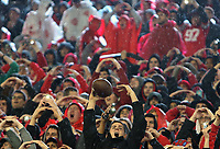 Buckeyes fans cheer a third quarter touchdown by the Buckeyes against Illinois at Ohio Stadium November 18, 2017. [Eric Albrecht/Dispatch]