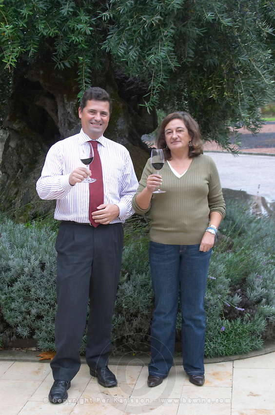 Filipa Tomaz da Costa winemaker. Bernardo Gouvea previously general manager. Bacalhoa Vinhos, Azeitao, Portugal
