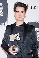 BILBAO, SPAIN-November 04: Brendon Urie of Panic! at the Disco in the press room during the EMA 2018 at BEC (Bilbao Exhibition Center) in Bilbao, Spain on the 4 of November of 2018 November04, 2018.  ***NO SPAIN***<br /> CAP/MPI/RJO<br /> &copy;RJO/MPI/Capital Pictures