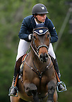 Colombia's jockey Daniel Bluman with the horse Sancha LS during 102 International Show Jumping Horse Riding, Gran Prix of Madrid-Volvo Throphy.May, 19, 2012. (ALTERPHOTOS/Acero)
