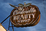 Cinderella Beauty Shop sign on PCH in Long Beach, CA