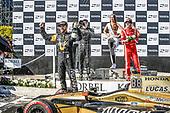 2017 Verizon IndyCar Series<br /> Toyota Grand Prix of Long Beach<br /> Streets of Long Beach, CA USA<br /> Sunday 9 April 2017<br /> James Hinchcliffe, Sebastien Bourdais, champagne<br /> World Copyright: Michael L. Levitt<br /> LAT Images