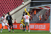 01.08.2015. Cologne, Germany. Pre Season Tournament. Colonia Cup. FC Cologne versus Stoke City.  Cologne keeper Timo Horn fending off another first half corner.