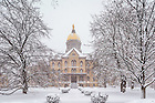 Feb. 19, 2015; Main Building in snow. (Photo by Matt Cashore/University of Notre Dame)
