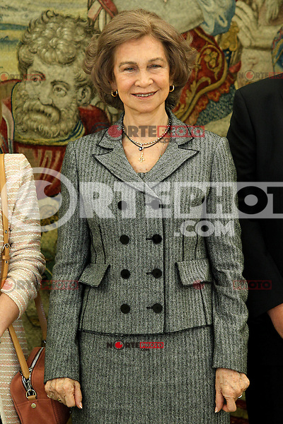 Queen Sofia of Spain dunring audience to a representation of Normon Laboratories.March 12,2013. (ALTERPHOTOS/Acero) /NortePhoto