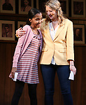 """Rosdely Ciprian and Heidi Schreck during the Broadway Opening Night Performance Curtain Call of  """"What The Constitution Means To Me"""" at the Hayes Theatre on March 31, 2019 in New York City."""