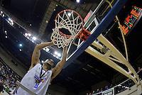 Corey Webster celebrates winning the national basketball league final Hawks v Saints at TSB Bank Arena, Wellington, New Zealand on Saturday 5 July 2014. <br /> Photo by Masanori Udagawa. <br /> www.photowellington.photoshelter.com.