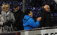 Fleetwood Town fans applaud their team at the final whistle <br /> <br /> Photographer Kevin Barnes/CameraSport<br /> <br /> The EFL Sky Bet League One - Bristol Rovers v Fleetwood Town - Saturday 22nd December 2018 - Memorial Stadium - Bristol<br /> <br /> World Copyright © 2018 CameraSport. All rights reserved. 43 Linden Ave. Countesthorpe. Leicester. England. LE8 5PG - Tel: +44 (0) 116 277 4147 - admin@camerasport.com - www.camerasport.com