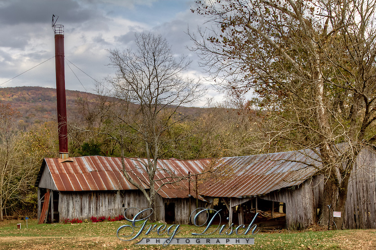 Historic old steam saw mill in Boxley Valley near the Buffalo National River.