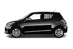 Car Driver side profile view of a 2013 Suzuki SWIFT Grand Luxe @ttraction 5 Door Hatchback 2WD Side View