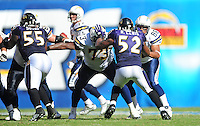 Sep. 20, 2009; San Diego, CA, USA; Baltimore Ravens linebacker (52) Ray Lewis and linebacker (55) Terrell Suggs against the San Diego Chargers at Qualcomm Stadium in San Diego. Mandatory Credit: Mark J. Rebilas-