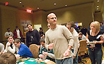 Mark Pnini reacts to winning a hand.