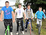 Kyle Murphy, Ryan Murray, Dean Murphy and Matthew Downes who took part in the Dromin 60k cycle in aid of Ardee Hospice Homecare. Photo: Colin Bell/pressphotos.ie