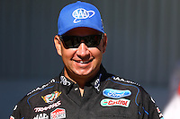 Sept. 22, 2013; Ennis, TX, USA: NHRA funny car driver Robert Hight during the Fall Nationals at the Texas Motorplex. Mandatory Credit: Mark J. Rebilas-